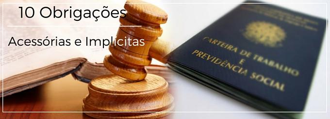 10 obrigações acessórias e implícitas